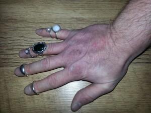 pandora hand and rings