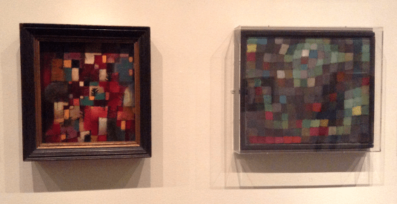 Paul Klee - May Picture (right), Redgreen and Violet-Yellow Rhythms (left)