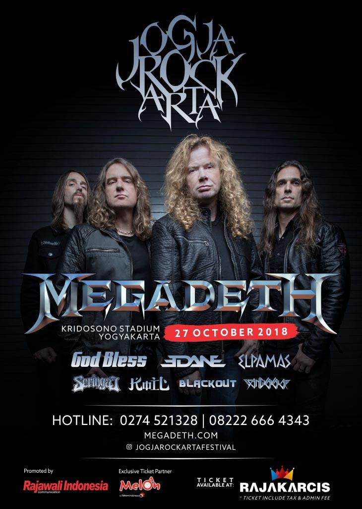 Megadeth Jogjakarta Tiket