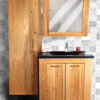 Bathroom furniture is beautiful, practical and brings peace in your bathroom. Available in both rustic oak and sleek stylish designs.