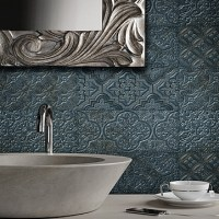 Contemporary ceramic wall and floor tiles for the bathroom combine practicality with the desired luxurious look.