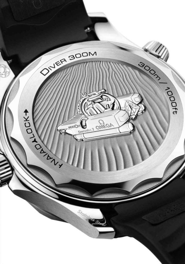 Omega Seamaster Diver 300M Nekton Edition back