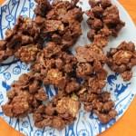 Geroosterde Kikkererwten, Chocolade en Rozijn Rotsjes