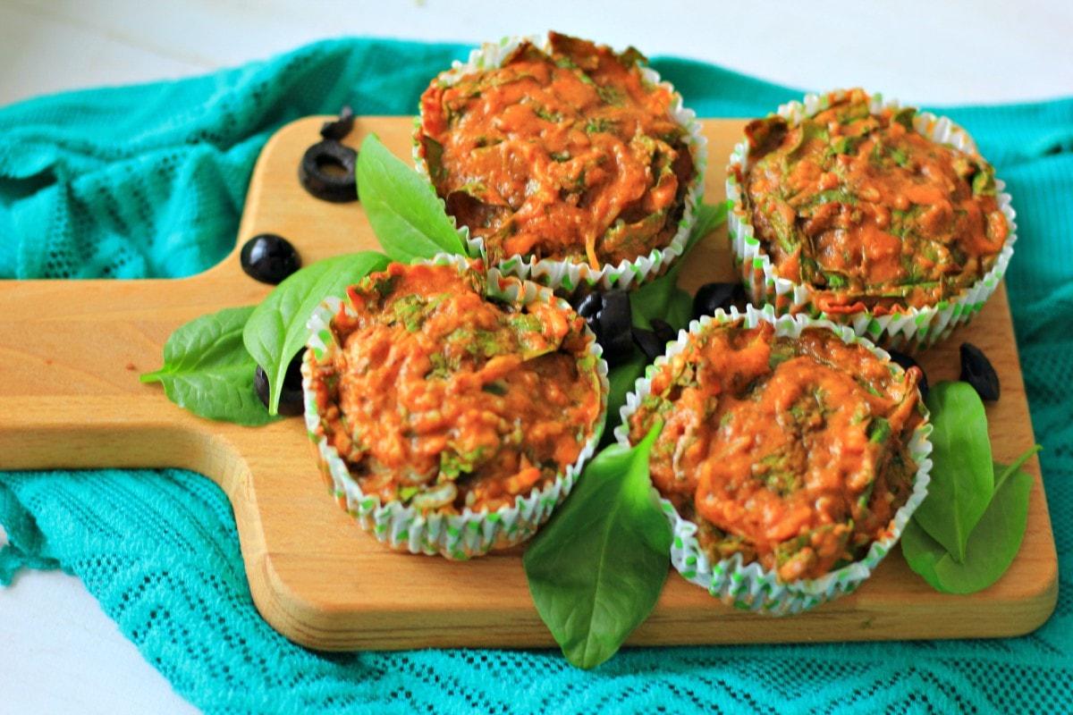 Hartige Italiaanse Spinazie Muffins