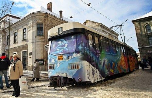 tramvai pictat