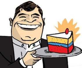Correa reparte la torta
