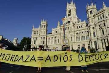 Protesta contra Mordaza