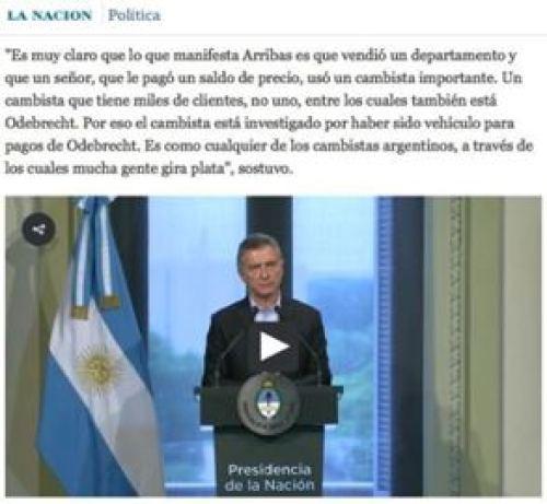 Macri defiende a Arribas