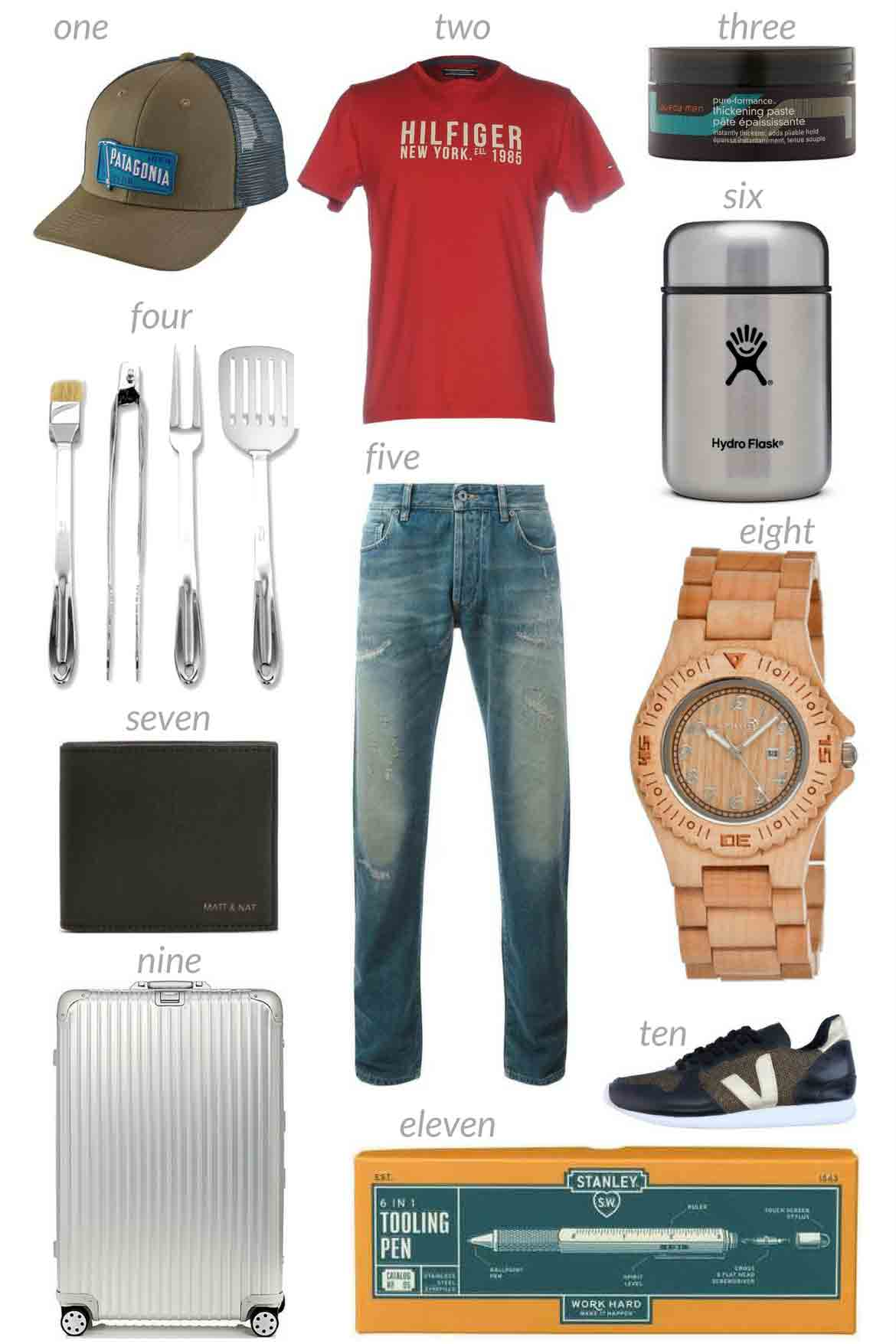 Collage of 11 Awesome Eco-Friendly Father's Day Gifts