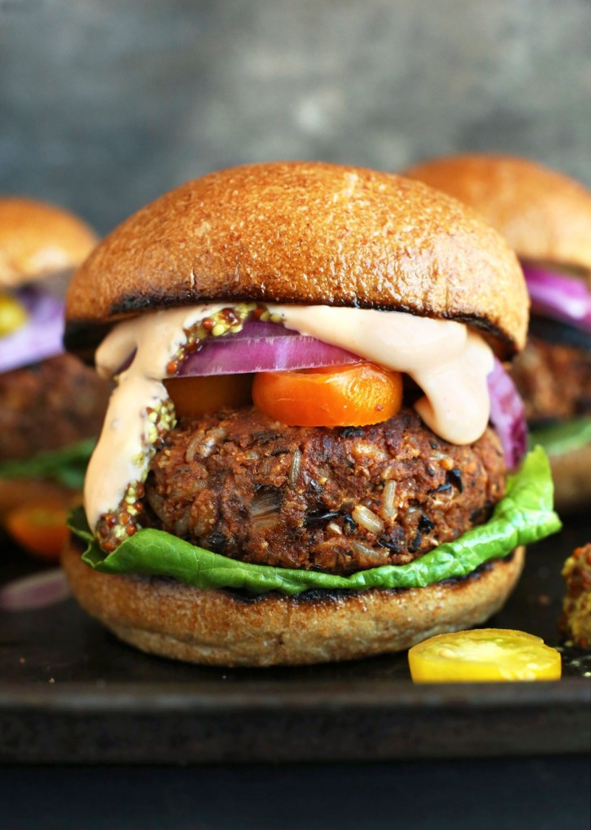 Easy Grillable Veggie Burger with a Toasted Bun