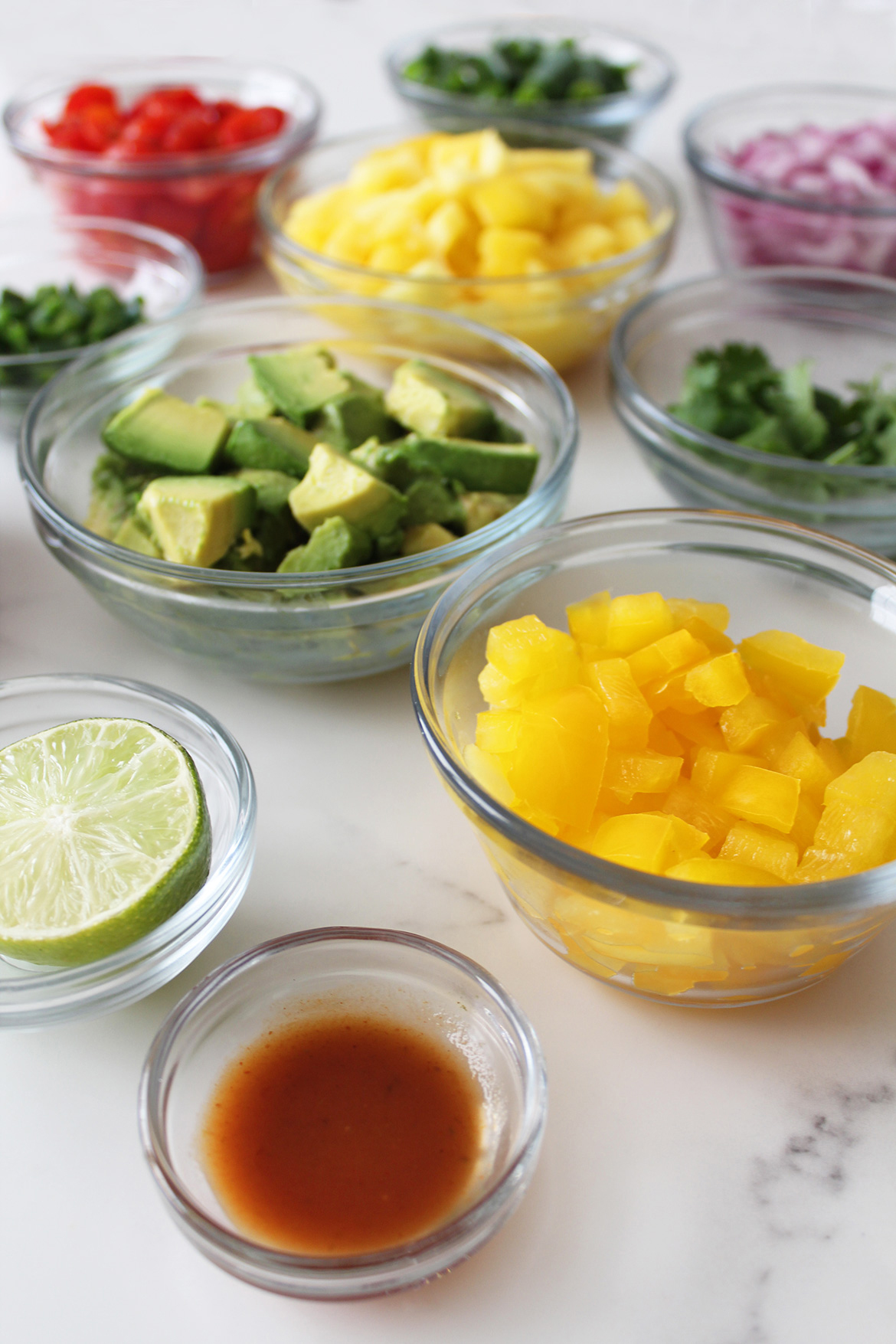Ingredients for Mood-Boosting Mango Salsa Recipe