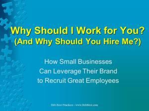 Why Should I Work for You rev. November 2014