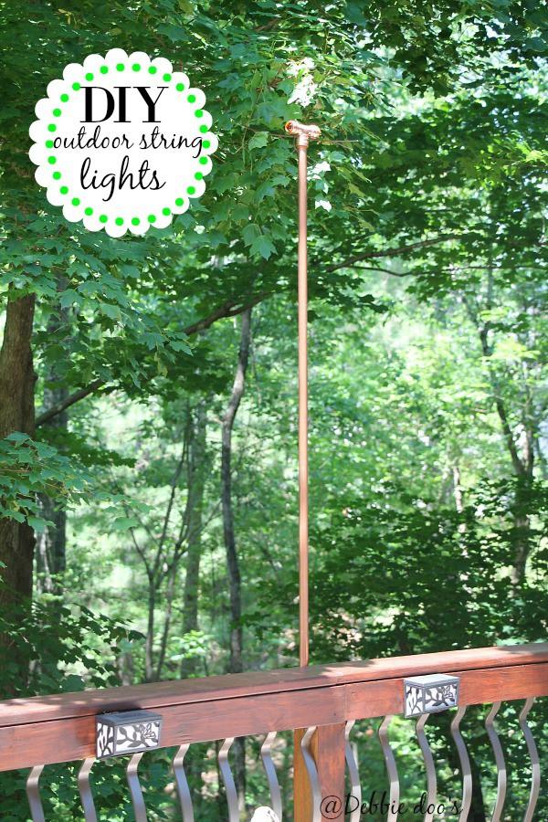 Diy hanging outdoor string lights - Debbiedoos on Backyard String Lights Diy id=88802