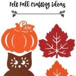 Dollar Tree Fall Felt Craft Ideas Debbiedoos