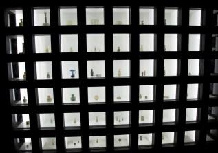 其中一個展覽櫃,入面放了比較細件的玻璃展品