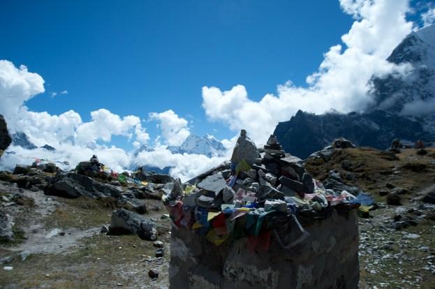Chukpi Lhara and the stone memorials