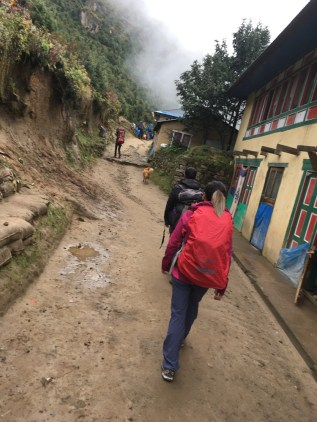 On the trail from Namche Bazaar