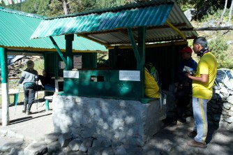Pass by a check post where we need to show our trekking permit