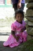 Little girl in the village