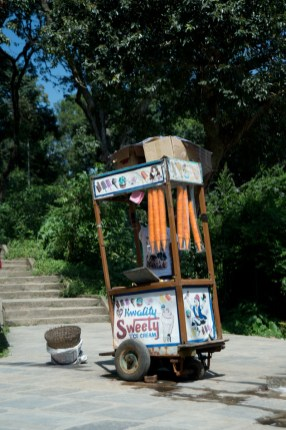 Ice-cream stand in the temple