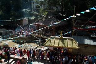 Pilgrims queue to enter Dakshinkali Temple