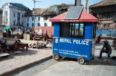 A police car at Durbar Square