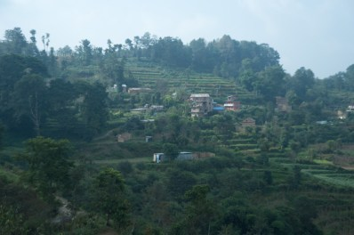 The farmlands in Kathmandu Valley