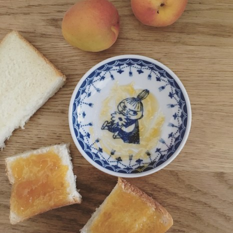 Apricot jam with milk loaf