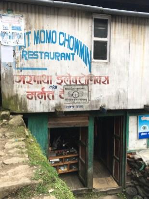 A watch repair shop in the alleys in Namche Bazaar