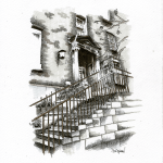 School Steps, Synge St, Dublin 8 - Pen & Ink, 2015