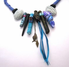 Debbie-Crothers-Polymer-Clay-Artist-Instructor-Crab- Claw-Necklace