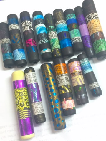 Debbie-Crothers-Polymer-Clay-Artist-Melbourne-Workops-Tube Beads (22)