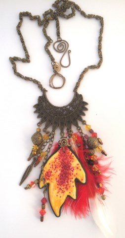 Debbie-Crothers-Artist-Instructor-Polymer-Clay-Liquid-Necklace-Pendant_BOHO