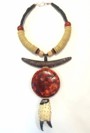 Debbie-Crothers-Polymer-Clay-Necklace-Art-Prize-Crab-Claw