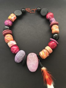 Debbie-Crothers-Polymer-Clay-Artist-Instructor-Necklace-Tribal-Oranic-Statement-Earthy-Bold-Contemporary-Art-Artisan-Jewellery-Jewelry