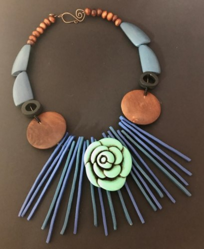 Debbie-Crothers-Polymer-Clay-Artist-Instructor-Necklace-Upcycle-Jewellery-Statement-Organic-Pendant-Component-Art