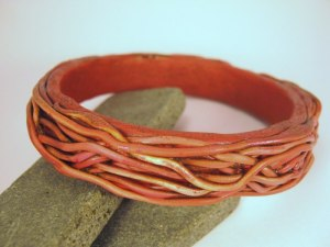 Debbie-Crothers-Tutorial-Project-Egg-Ring-Bangle-Artist-Instructor-Bracelet-Armature-Earthy-Organic-Surface-Texture-Clay-Experiment