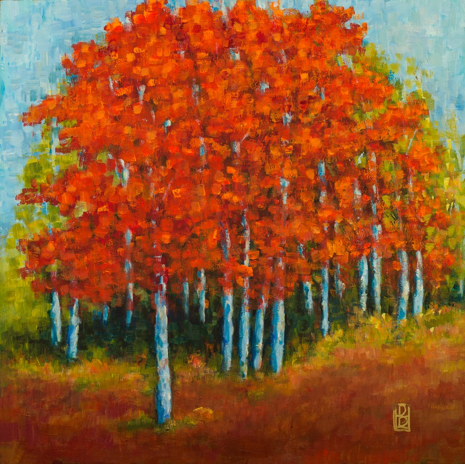 Red Mosaic Trees II