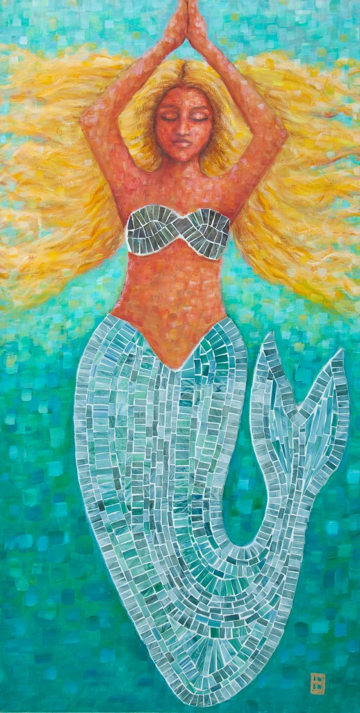 Wild Blonde Haired Mermaid