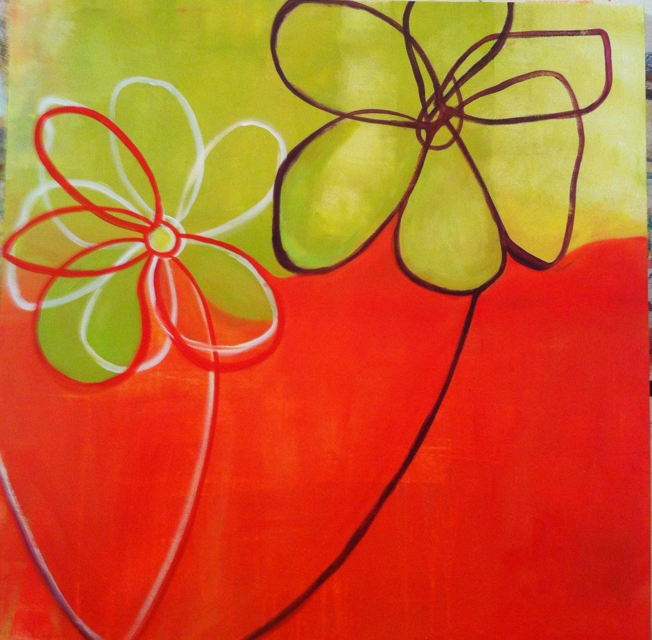 Orange Green Flowers