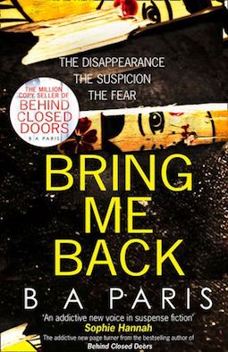 Bring Me Back by BA Paris
