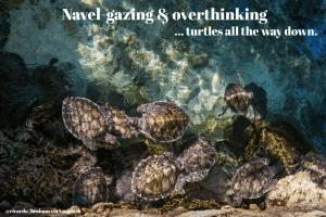 navel gazing and overthinking