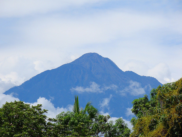 Photograph of Volcano Tacana, or Soconusco, on the border of Mexico and Guatemala.