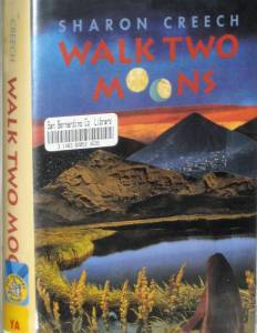 "Book cover for ""Walk Two Moons:"