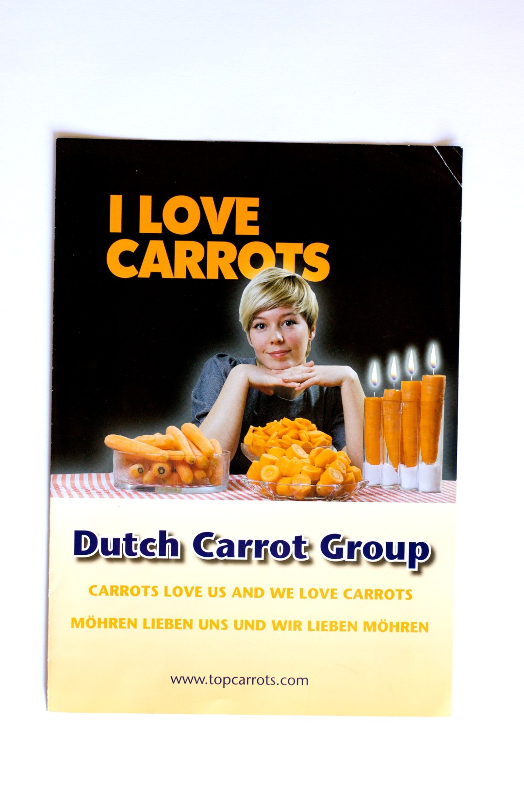 Fotografie en lay out brochure Dutch Carrot