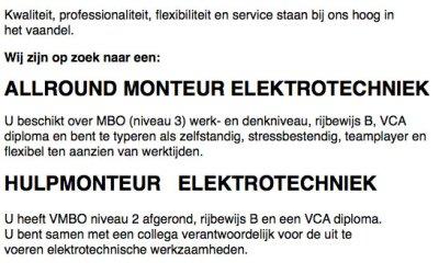 Werken bij de beij elektra!?