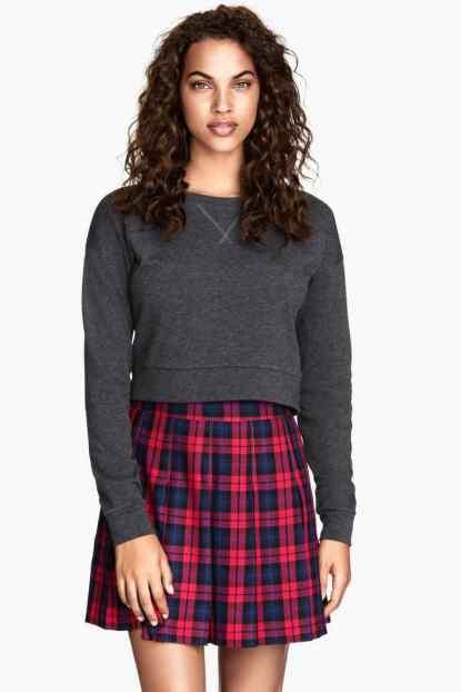 Falda cuadros H&M