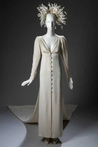 vestido de novia gyvenchy crepe marroqui 1984