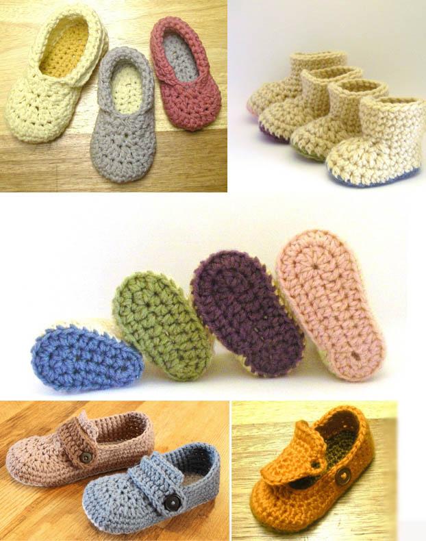 Zapatillas a crochet patrones