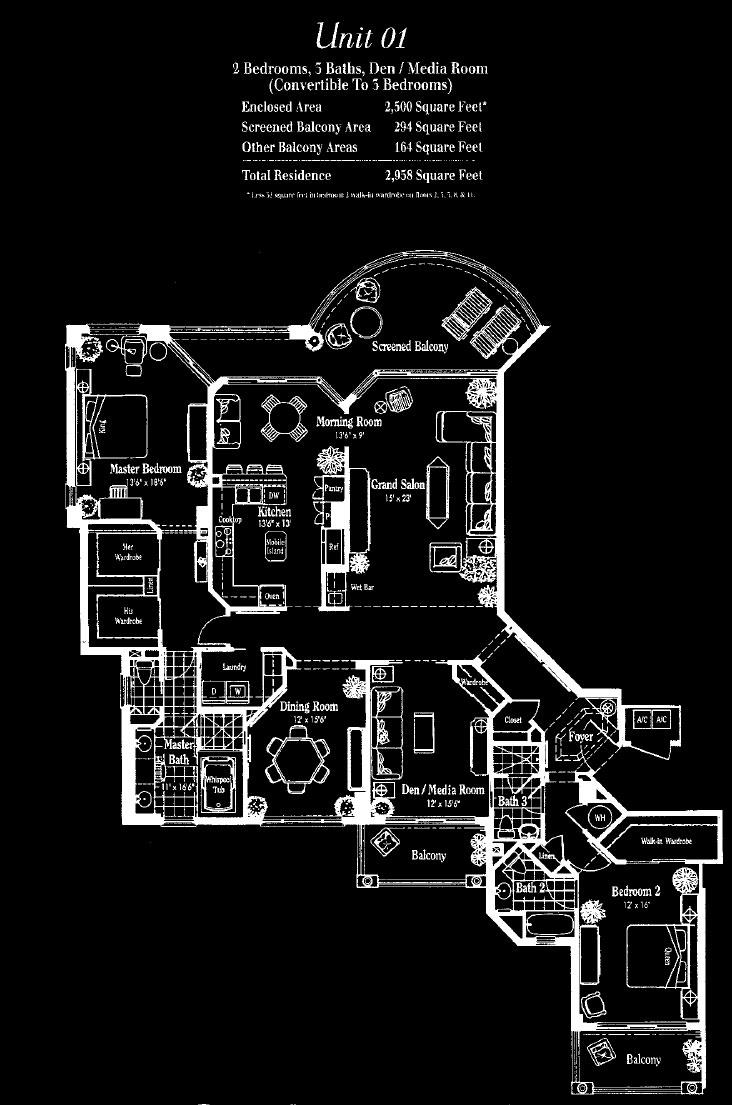 Marquesa at Bay Colony 01 Floor Plan